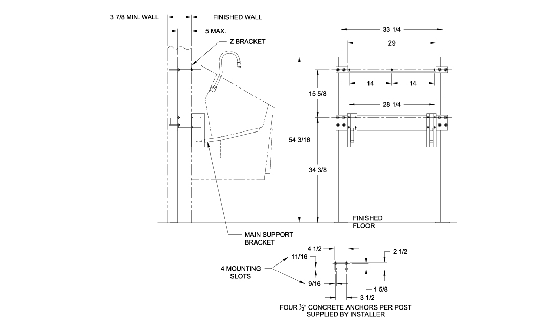 SS32 Recommended Optional In-Wall Chair Carrier System