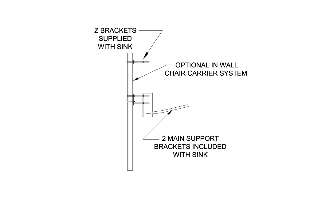SS96 Wall Mount Surgical Scrub Sink